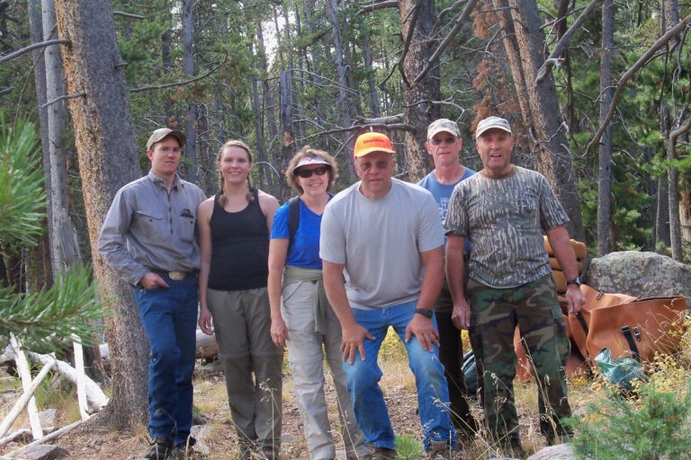 Every so often, Mark and Becky take time off to camp and hunt with family and friends.